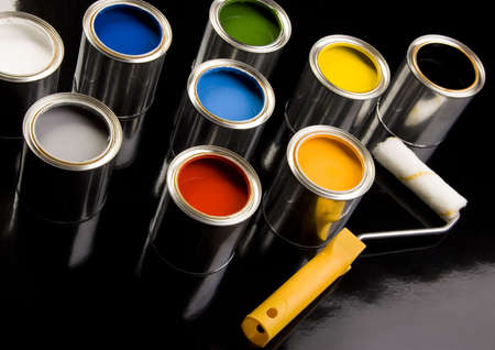 Paint and cans Stock Photo - 956323