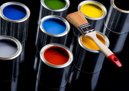 Paint and cans Stock Photo - 956327
