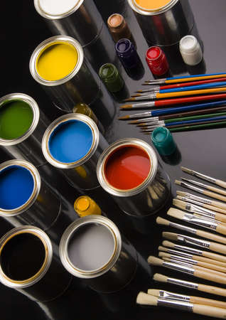 Paint and brush Stock Photo - 956332