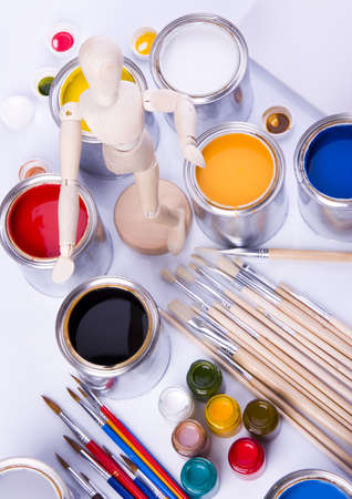 Paint and brushes Stock Photo - 956408