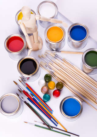 Paint and brushes Stock Photo - 956410