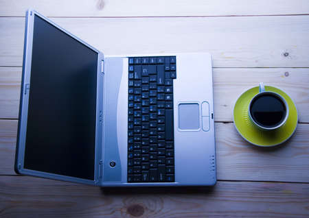Laptop & Caffe photo