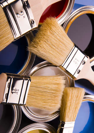 Paint and cans Stock Photo - 952220