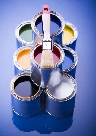 Paint and cans Stock Photo - 952221
