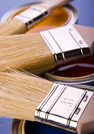 Paint brush and cans Stock Photo - 952235