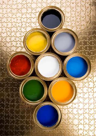 gold cans: Decorazione gioco