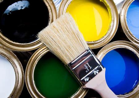 gold cans: Colore  Archivio Fotografico
