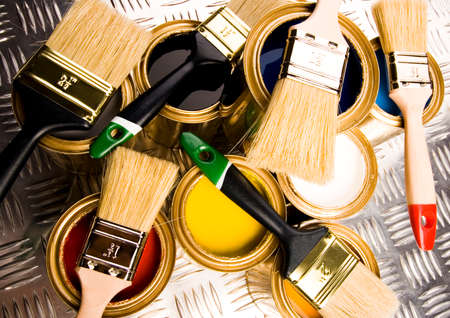 Paint and brushes Stock Photo - 2152768