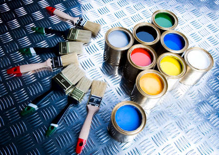 Paint and gold cans Stock Photo - 2152815