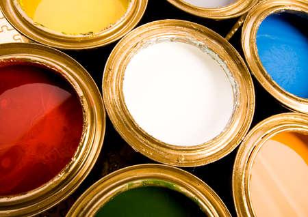 gold cans: Lattine d'oro Archivio Fotografico
