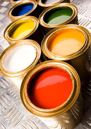 gold cans: Colorful idea