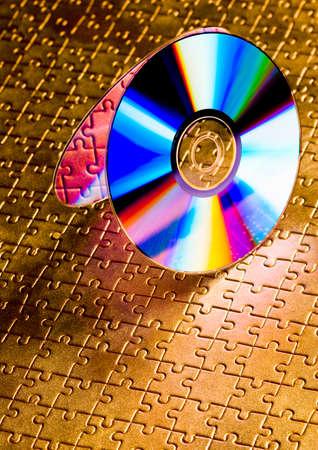 cds: Cds on jigsaws   Stock Photo