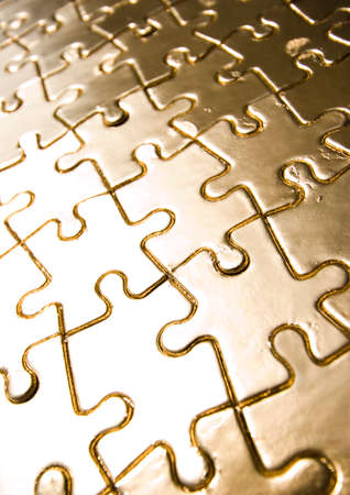 Gold jigsaws Stock Photo - 2151647