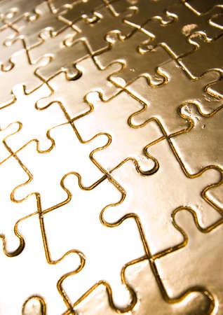 Gold jigsaws Stock Photo - 2151647