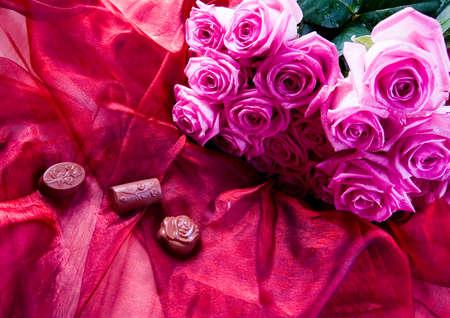 Chocolate & Roses Stock Photo - 2143523