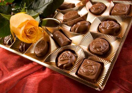 Chocolate & Roses Stock Photo - 2143524