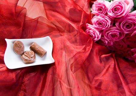 Chocolate & Roses Stock Photo - 2143527