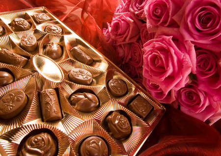 Chocolate & Roses Stock Photo - 2143529