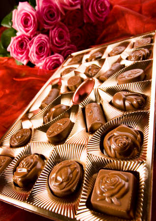 Chocolate & Roses Stock Photo - 2143556