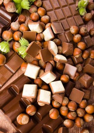 happieness: Chocolate bars Stock Photo
