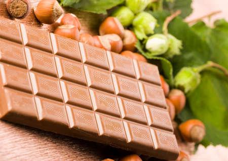 happieness: Chocolate & Nuts Stock Photo