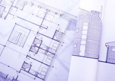 House blue print close up Stock Photo - 2188538