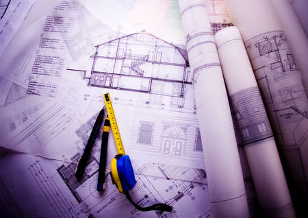 House plan blueprints photo