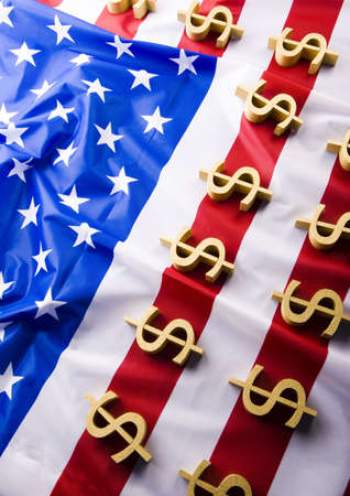 Money on the flag  photo