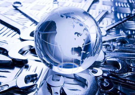 screwdriwer: World repair        Stock Photo