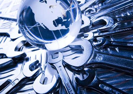 Tools around the world    Stock Photo