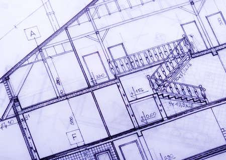 House plan blueprints Stock Photo - 2387496