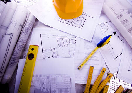 Close up of a blueprint Stock Photo - 2383809