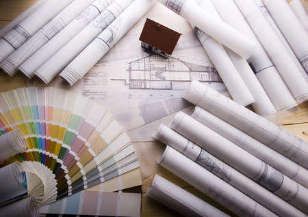 Architecture plans Stock Photo - 2612073