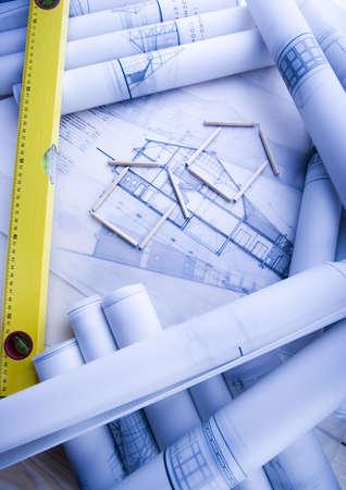 House blueprints close up Stock Photo - 2612087