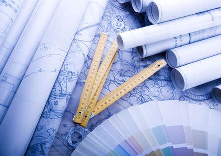 Close up of a blueprint Stock Photo - 2612146