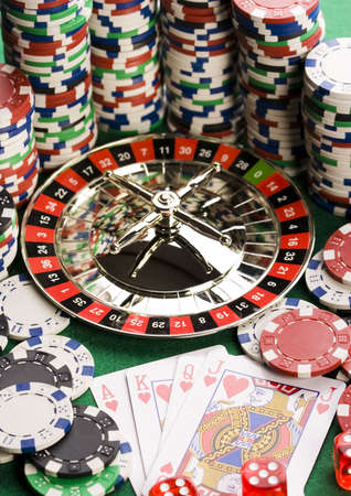 Casino - Roulette & Chips Stock Photo - 2612201
