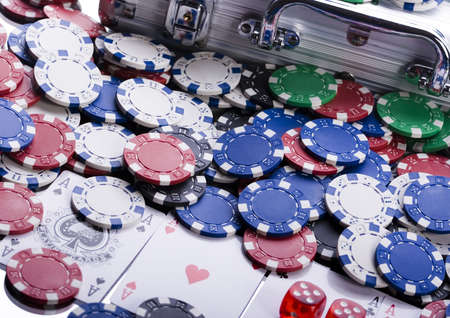 lasvegas: Casino chips Stock Photo