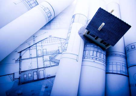 centimetre: Close up of a blueprint Stock Photo
