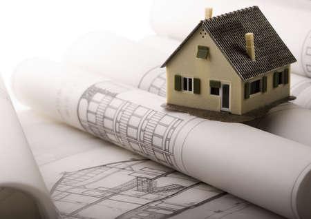 renovation de maison: Fermer place d'un sch�ma directeur  Banque d'images