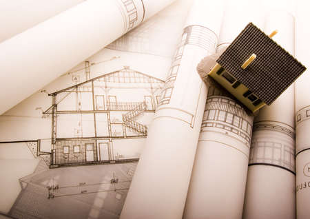 Architectural plans Stock Photo - 2624950