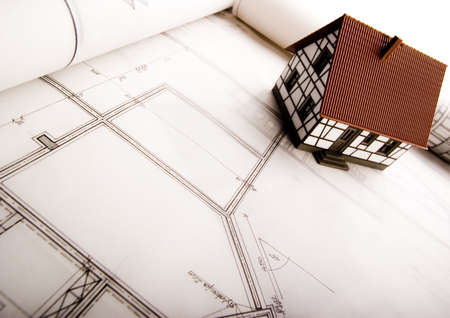 Arquitectura y plan de la Casa  Foto de archivo - 2624731