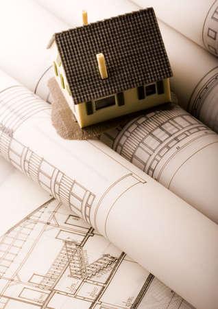 House blueprints close up Stock Photo - 2624859