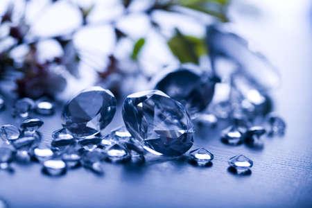 diamonds isolated: Diamonds isolated on blue background
