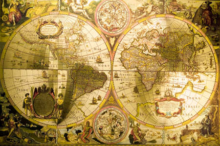 vintage world map: World Antique Map