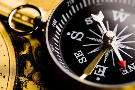 Detail closeup compass  photo