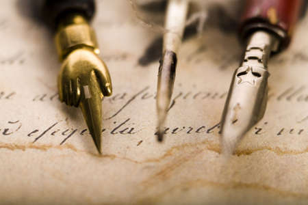 Nibs & Faded paper                   Stock Photo - 3226939