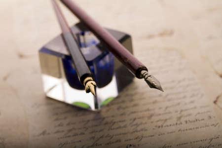 Achtergrond papier & inkt en pen