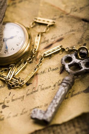 collectable: Paper & Old watch