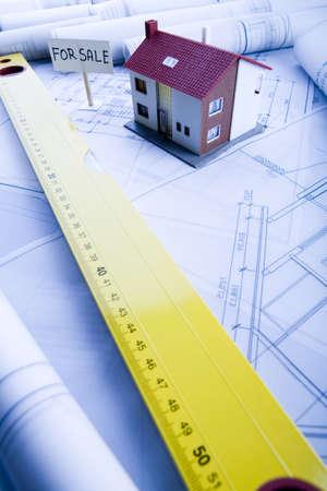 designe: Architecture planning of interiors designe on paper