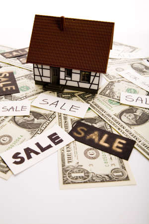 House for sale & Dollars Stock Photo - 3273121